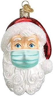 قطعة واحدة من الحلي سانتا كلوز 2020، 5 قطع قلادة زينة شجرة عيد الميلاد، سانتا كلوز مع غطاء الوجه تراديشن ديكور