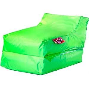 Housse de Pouf Chauffeuse Lounger en Polyester Int/Ext Vert