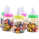 Glorygifts 24pcs/Bottle Cartoon Number Rubber Pencil Eraser for Kids (Stationery Gift) Bottle of 3