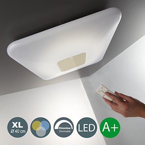 22W LED Deckenleuchte Warmweiß 3000K-6000K 2000LM Dimmbar LED Wohnzimmer Esszimmerleuchte Inkl. LED-Platine Inkl. Fernbedienung Nachtlicht- Und Timerfunktion Esstischleuchte IP20 Eckig EEK A+