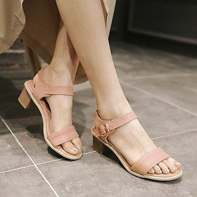 LvYuan Damen-Sandalen-Büro Kleid Lässig-PUAndere-Rosa Weiß Beige Pink
