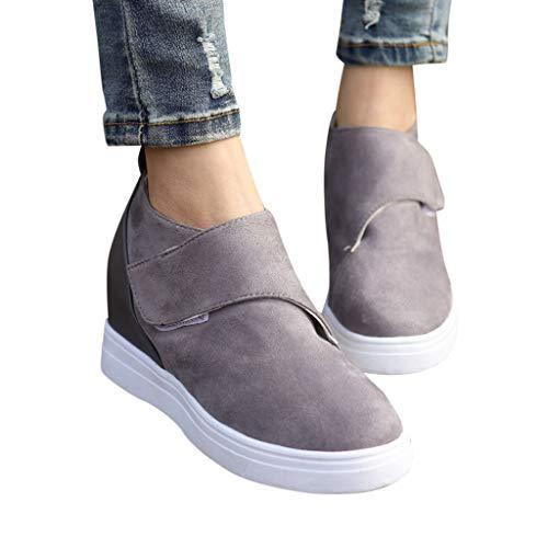 7b0e59a28bbc2f Sandalen Damen Mode Segelschuhe Turnschuhe Sommer Kurze Stiefel Frauen  Beiläufige zunehmende Keilschuhe Arbeitsschuhe Freizeitschuhe ABsoar