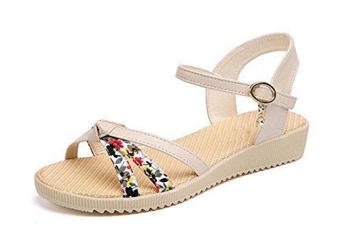 Fashion Sandalen weiblichen Kopf Fisch Schnalle Sandalen meters white