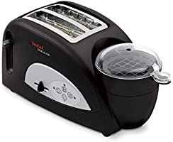 Tefal TT550015 Toast and Egg Two Slice Toaster and Egg Maker, 1200 W - Black