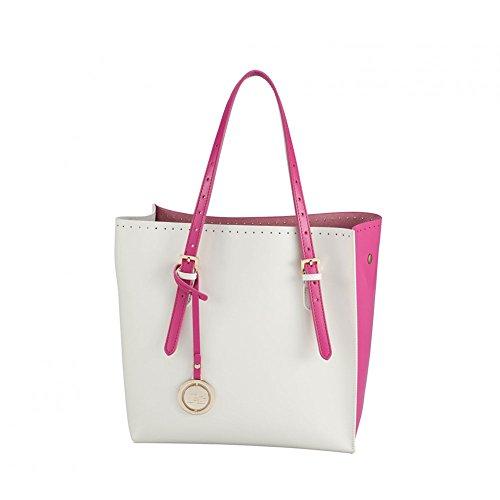 Borsa shopping piccola | Jacky & Celine Iris Double Face | P/E 2016 | S16B40101PE16-Fuxia/Cream