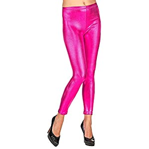 WIDMANN - Leggings metálicos rosa large/extra-large