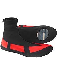 Dilwe Cubrezapatillas de Ciclismo 1 par Cubiertas de Calzado Elásticas Impermeable y a Prueba de Viento Accesorios de Ciclismo para Actividades al Aire Libre(XL)