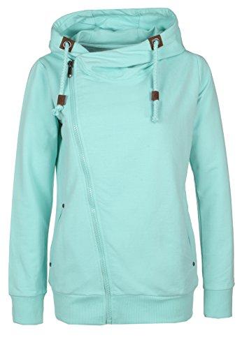 Sublevel, Sweat-Shirt à Capuche Femme turquoise clair