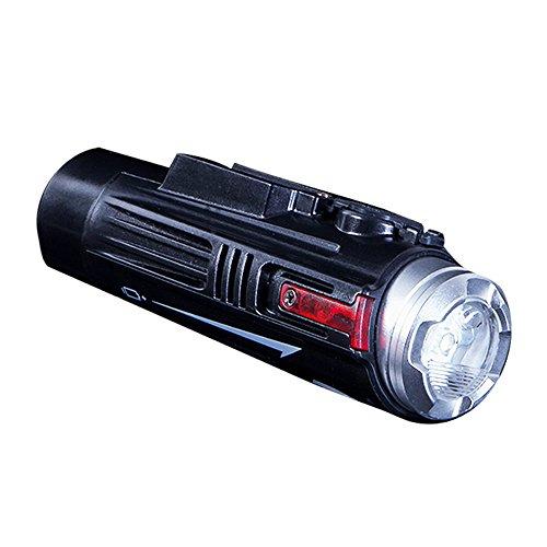 myqyiyi 5000Lumen Fahrradlampe Fahrrad-LED wasserdicht Scheinwerfer Taschenlampe USB Akku, Schwarz Fahrradbeleuchtung 5000 Lumen