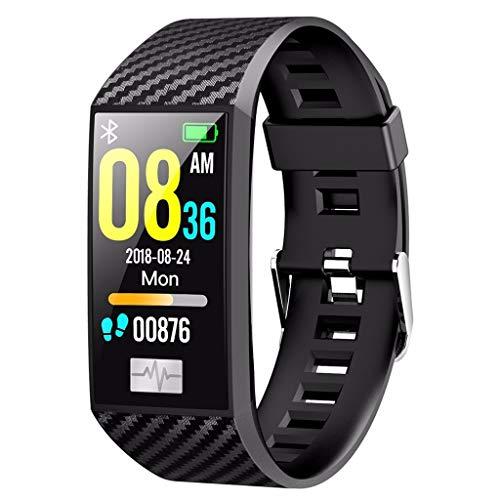 LRWEY Fitness Armband mit Pulsmesser, DT58 Bluetooth EKG-Herzfrequenz-Blutdruckmessgerät Sport Smart Watch Schrittzähler iOS Android Handy