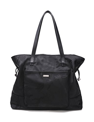 CWTCH Extra Large Nylon Tote Bag Shoulder Bag for Women (Trim Large Tote)