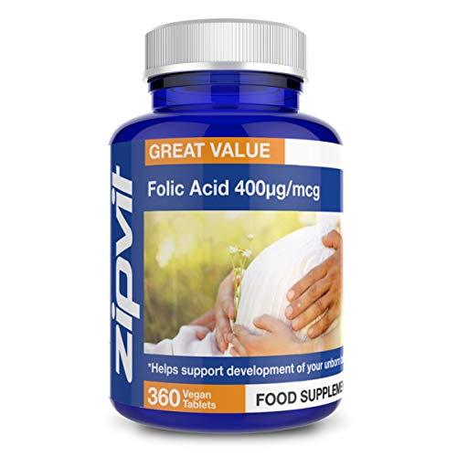 Acido folico 400mcg | 360 compresse | Integratore numero 1 per gravidanza | Favorisce lo sviluppo del tuo neonato