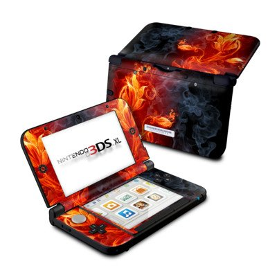 Nintendo 3DS XL Skin Schutzfolie Design modding Sticker Aufkleber - Flower Of Fire