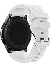 Correas para Samsung Gear S3 Frontier Sannysis Banda de pulsera de silicona deportiva color blanco