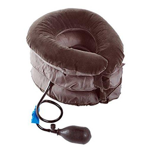 Comodo cuscino gonfiabile con forma anatomica - il rimedio ideale per combattere i dolori della cervicale - collare ortopedico per trazione del collo - stop cervicale torcicollo e cefalea