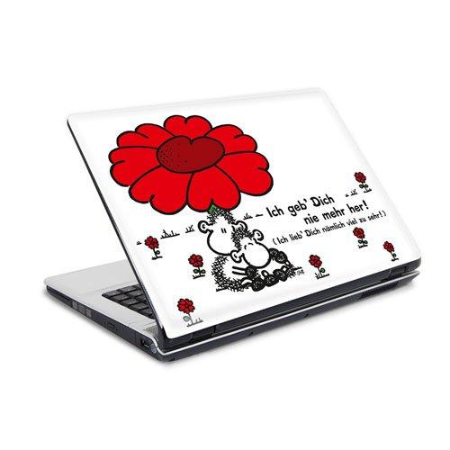 """Preisvergleich Produktbild Laptop Sticker 10"""" sheepworld - geb dich nie- Größe 26 x 19 cm - Notebook Skin"""