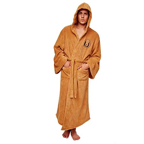 Schwarze Hooded Kostüm Robe - Jedi Dressing Gowns - Star Wars Bath Robes (Kostüm)