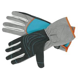 Gants de jardin arbustes et épineux de GARDENA: gants de jardinage pour le travail avec des arbustes/épineux, taille 9/L, confort de port optimal, manchettes longues, matériaux robustes pour protéger les mains (218-20)