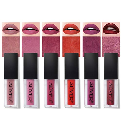 7 Couleurs Maquillage Waterproof à Lèvres Mat Liquide Beauté Brillant Rouge à Lèvres Lip Gloss Liquid Matte Longue Tenue Gloss Lipstick Lot de 7 Pcs