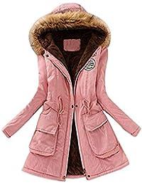Elecenty Cappotto invernale da donna Pelliccia Faux Giacca Parka con cappuccio in pelliccia Cardigan Lungo Elegante Trench Jacket Outwear