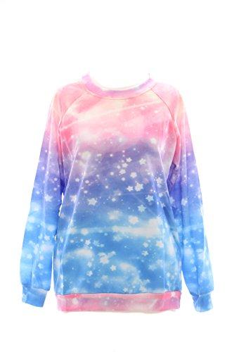 T-518 Fantasy Sky Stars Sterne Lolita Pullover Sweatshirt Harajuku Japan Pastel Kawaii-Story