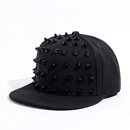 TRGFB Baseball Cap Unisex Punk Igel Hut Persönlichkeit Jazz Hysteresen Niet Spiky Baseball Cap Für Hip Hop Rock Dance Bons Papa Hüte