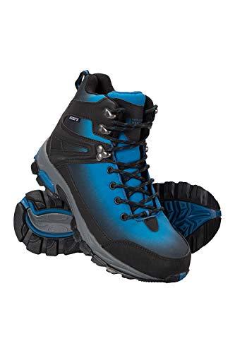 Mountain Warehouse Intrepid Wasserfeste Damen-Softshell-Wanderstiefel - Phylon-Mittelsohle, Netzfutter-Schuhe, Gummilaufsohle - Damenschuhe zum Wandern, Campen, Reisen Blaugrün 39 EU