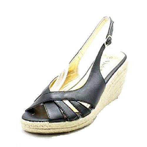 Femmes Bout ouvert, fermeture arrière sandales semelle compensée / Chaussures Black