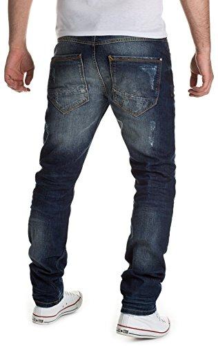 Yazubi Herren Jeans Detroy Destroyed by YZI Jeans 2015 H/M Star MOD 13032 D.G denim blue (45202)
