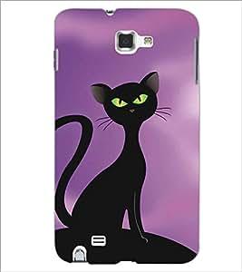 SAMSUNG GALAXY NOTE 1 N7000 BLACK CAT Designer Back Cover Case By PRINTSWAG
