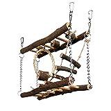 Pet Ting Hängebrücke für Kleine Haustiere, Holz, Seil