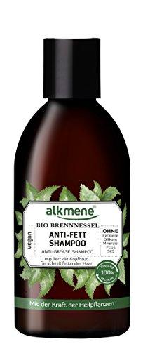 alkmene Anti-fett Shampoo mit Bio Brennnessel, für fettige Haare, 250 ml - 2er Pack (2 x 250 ml)