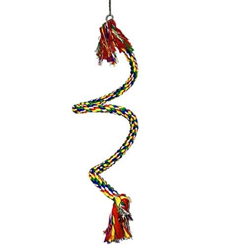 Barlingrock Vogel Spielzeug Hängen Seil Barsch Papagei Spielzeug Vogel Schaukel Spielzeug Drehtyp Für Seil Bungee Vogel Spielzeug Gut für Schoßhunde Katzen Tiere Walking Training -