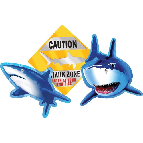 Creative Converting Shark Splash 3zählen Ausschnitt Party -