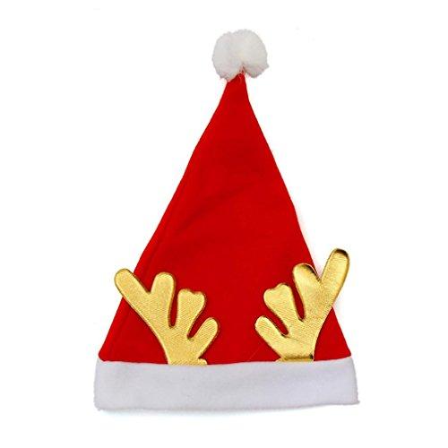 OHQFête de Noël Chapeau de Père Noël chapeau rouge pour le Père Noël Costume Nouveau