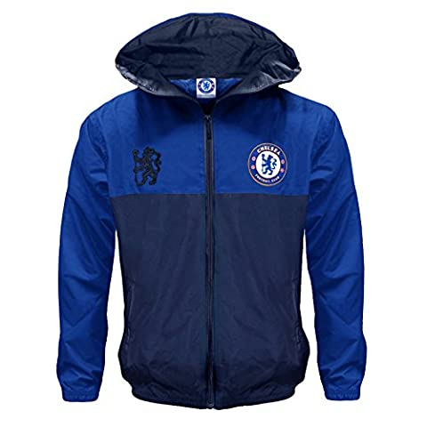 Chelsea FC Official Football Gift Boys Shower Jacket Windbreaker 10-11 Years LB