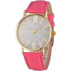 WINWINTOM Women Crystal Rhinestone Analog Leather Quartz Wrist Watch
