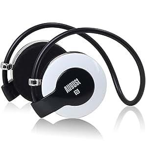 August EP615 cuffie Senza fili Bluetooth NFC V4.0 - Auricolari Audio Stereo con Microfono per VivaVoce - Cuffie Over-Ear per Smartphones, iPhone, iPad, Tablet ... (Bianco)