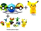 #8: Designer pokeball with 1 pikachu and 1 random pokemon figure