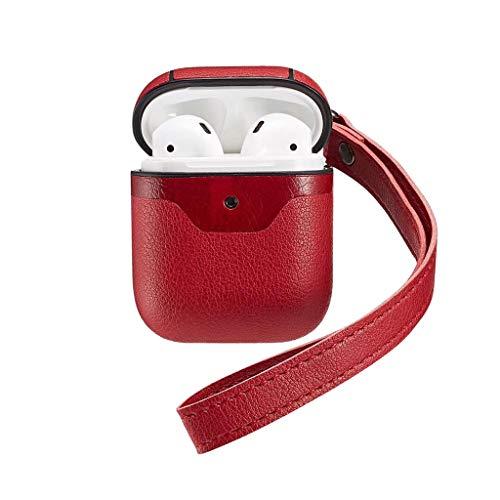 Bluetooth Kopfhörer Für Apple airpods Leder kopfhörer ladegerät case schutzhülle mit karabiner - Sms Case Audio