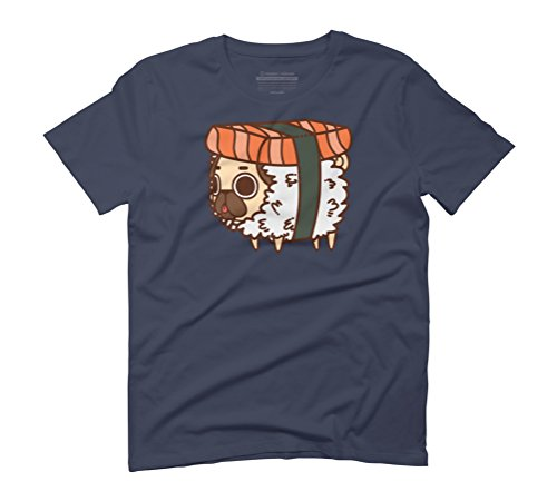 Puglie Salmon Sushi Men's Graphic T-Shirt - Design By Humans Navy