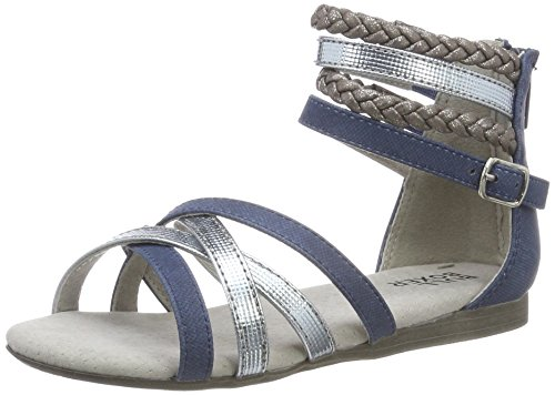 BULLBOXER Mädchen AED009F1S Offene Sandalen, Blau (Dirty), 39 EU