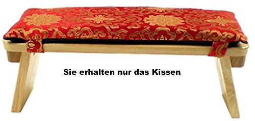 Raum der Stille Meditationsbänke und Zubehör Variantenartikel (Meditationsbankkissen Rot/Gold Lotus)