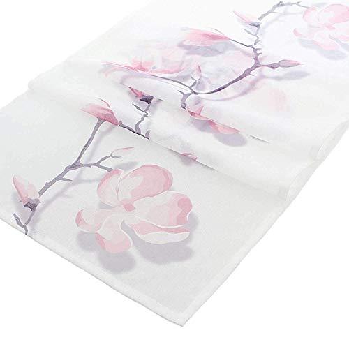 agnolie Tischdecke Tischband Deko Läufer Frühling Blüten 45x150cm ()