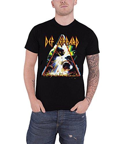 Def Leppard Hysteria offiziell Herren Nue Schwarz T Shirt