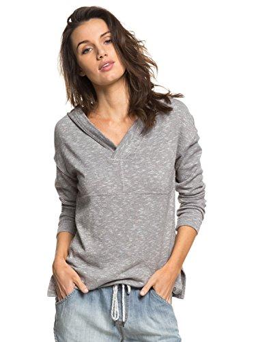 Roxy Womens Sunset Surfside - Hooded Poncho Sweatshirt - Women - S - Black Charcoal Heather S -