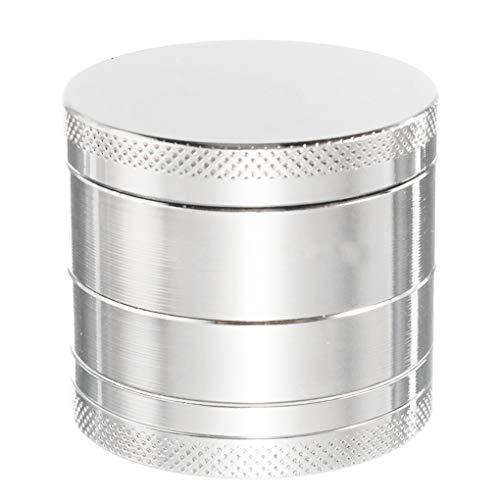 NAYUKY Aleación de Zinc Metal Tabaco Amoladora de 4 Capas Manual Mini Hecho a Mano de la Hierba de la Especia Amoladora Trituradora de Humo de Tabaco