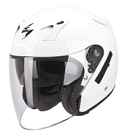 Casque de moto blanc brillant Scorpion Exo 220