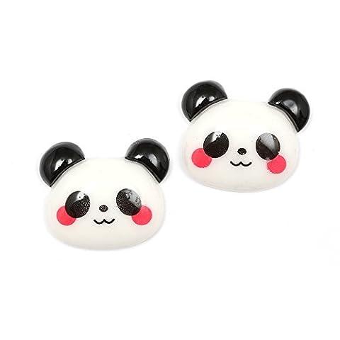 Idin Clips d'oreilles enfants - Ours Panda avec Joues roses (env. 17 x 21 mm)