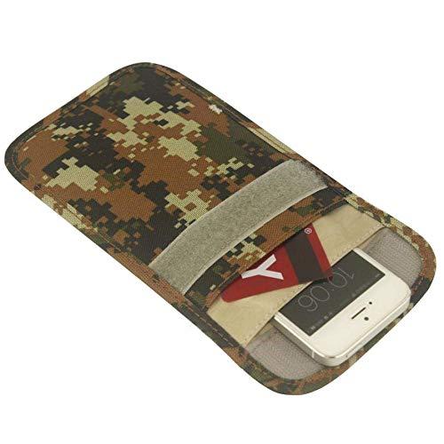 Mengshen Bolsa de Bloqueo de Señal RFID, Anti-Seguimiento Anti-Espionaje Anti Radiación Estuche de Billetera Blindaje de SeñAl para Teléfono Celular y Llavero Coche - PX04
